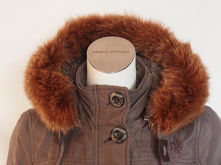 Dámský zimní kabát +LIŠKA