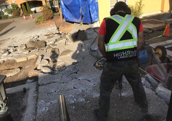 breaking concrete