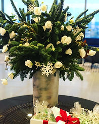 holiday office centerpieces