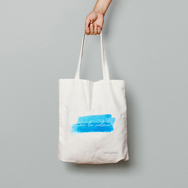Con la calma (azul) - Tote Bag