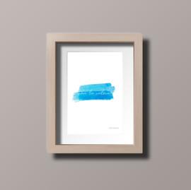 Con la calma (azul) - Postal