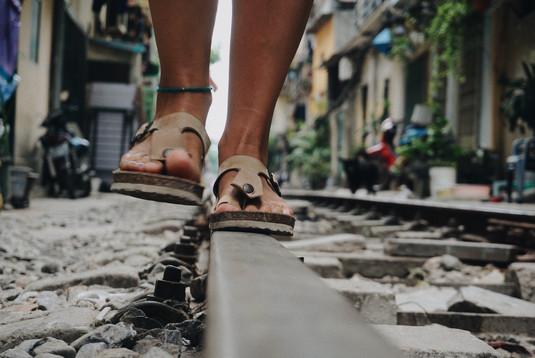 Hanoi Train Street.