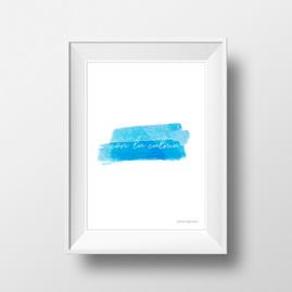 Con la calma (azul) - Lámina A4