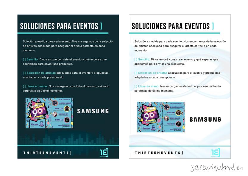 Propuesta de diseño Thirteen Events.