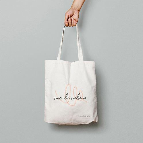 Con la calma (naranja) - Tote Bag