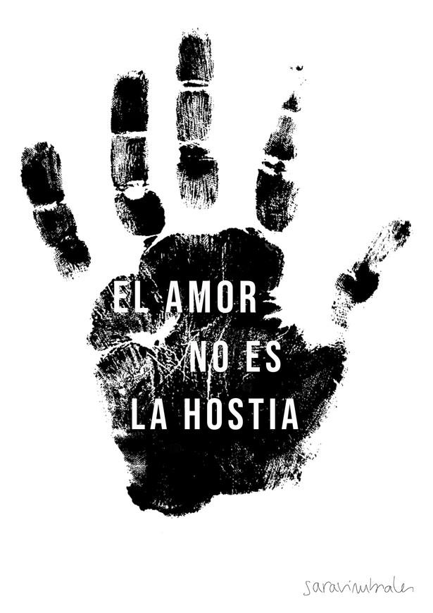 El amor no es la hostia. 25N. Diseño.