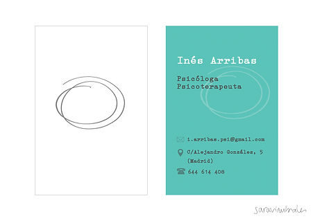Diseño tarjetas de visita psicóloga Inés Arribas