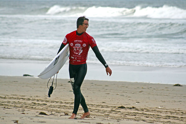surf and golf contest. Even Geiselman pro surfer wins contest