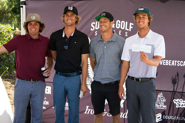 surf and golf contest iron and sand winners