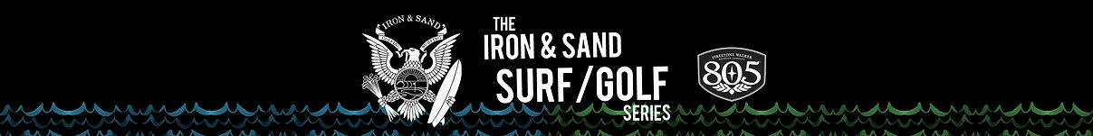 Iron and Sand Surf and Golf website header
