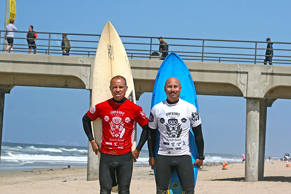 The Azcona Brothers Art and Alex first official surf contest huntington beach pier