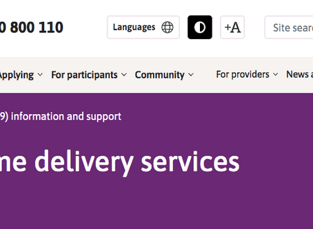 NDIS Priority home delivery services