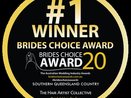 WINNER Of Best Hair Stylist for Bride's choice Awards 2020!