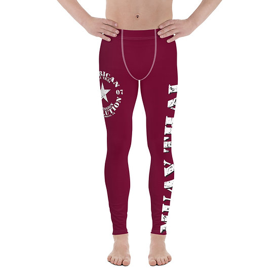 Men's Maroon American Revolution 'Muay Thai' Leggings