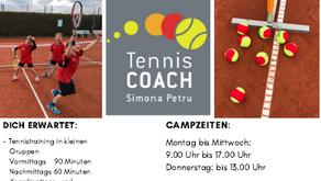 Sommer-Tennis-Camps für Kinder, Jugendliche und Erwachsene sind terminiert.