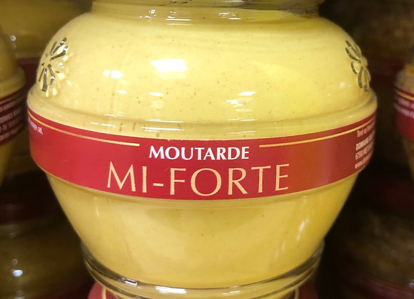MOUTARDE MI-FORTE - 200G - TERRE ROUGE