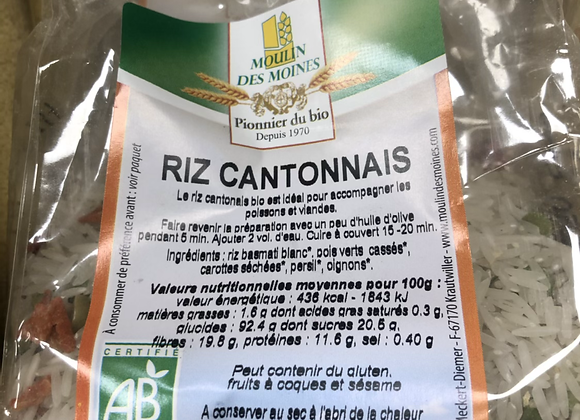 RIZ CANTONNAIS BIO - 250G - MOULIN DES MOINES