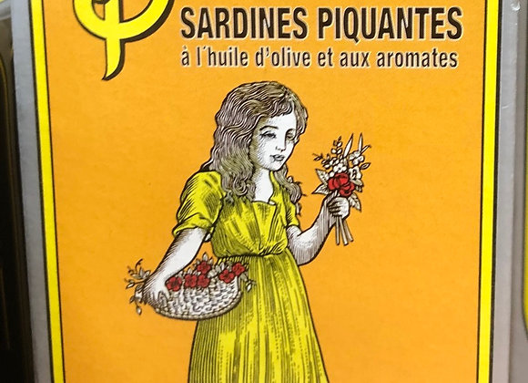 SARDINES PIQUANTES A L'HUILE D'OLIVE ET AROMATES - 125G