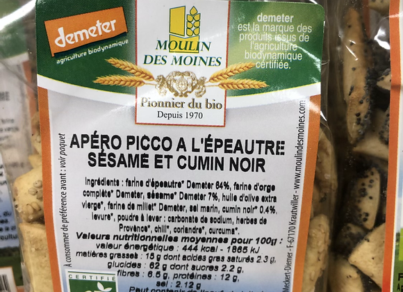 APERO PICCO BIO EPEAUTRE SESAME ET CUMIN NOIR - 150G