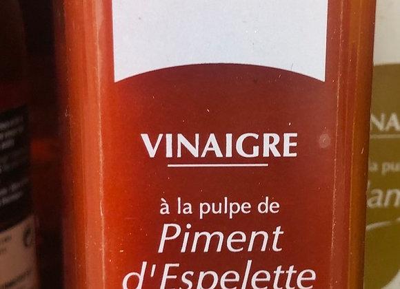 VINAIGRE A LA PULPE DE PIMENT D'ESPELETTE - 25CL - TERRE ROUGES