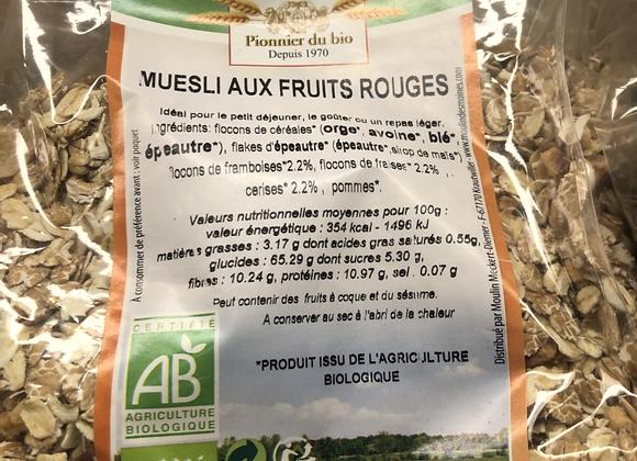 MUESLI AUX FRUITS ROUGES BIO - 500G- MOULIN DES MOINES