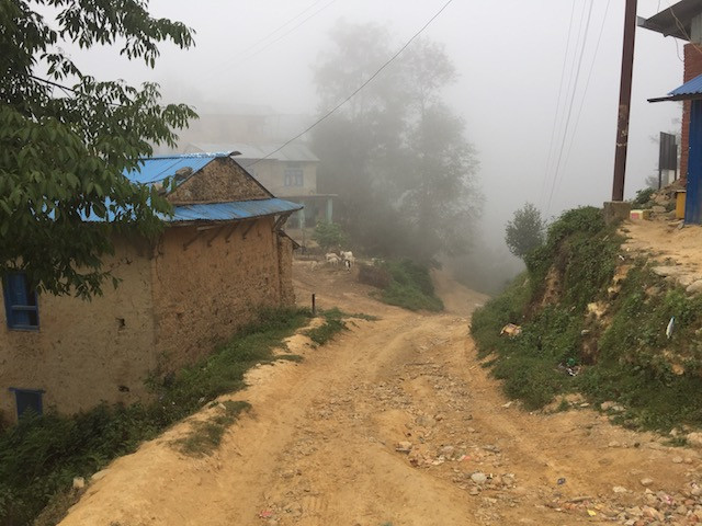 tamang village dirt road