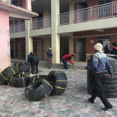 Pipes delivered to Gagalphedi school