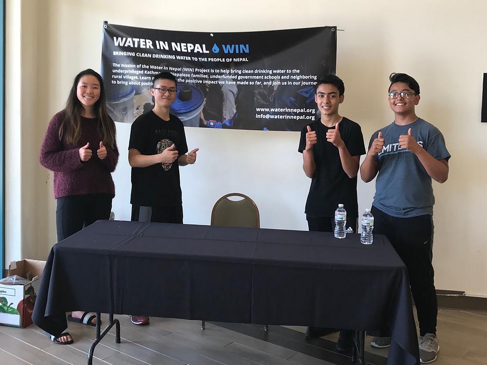 Ninja Warriors fundraise with team members