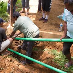 New pipes being laid at Mahadev Daada Village Community