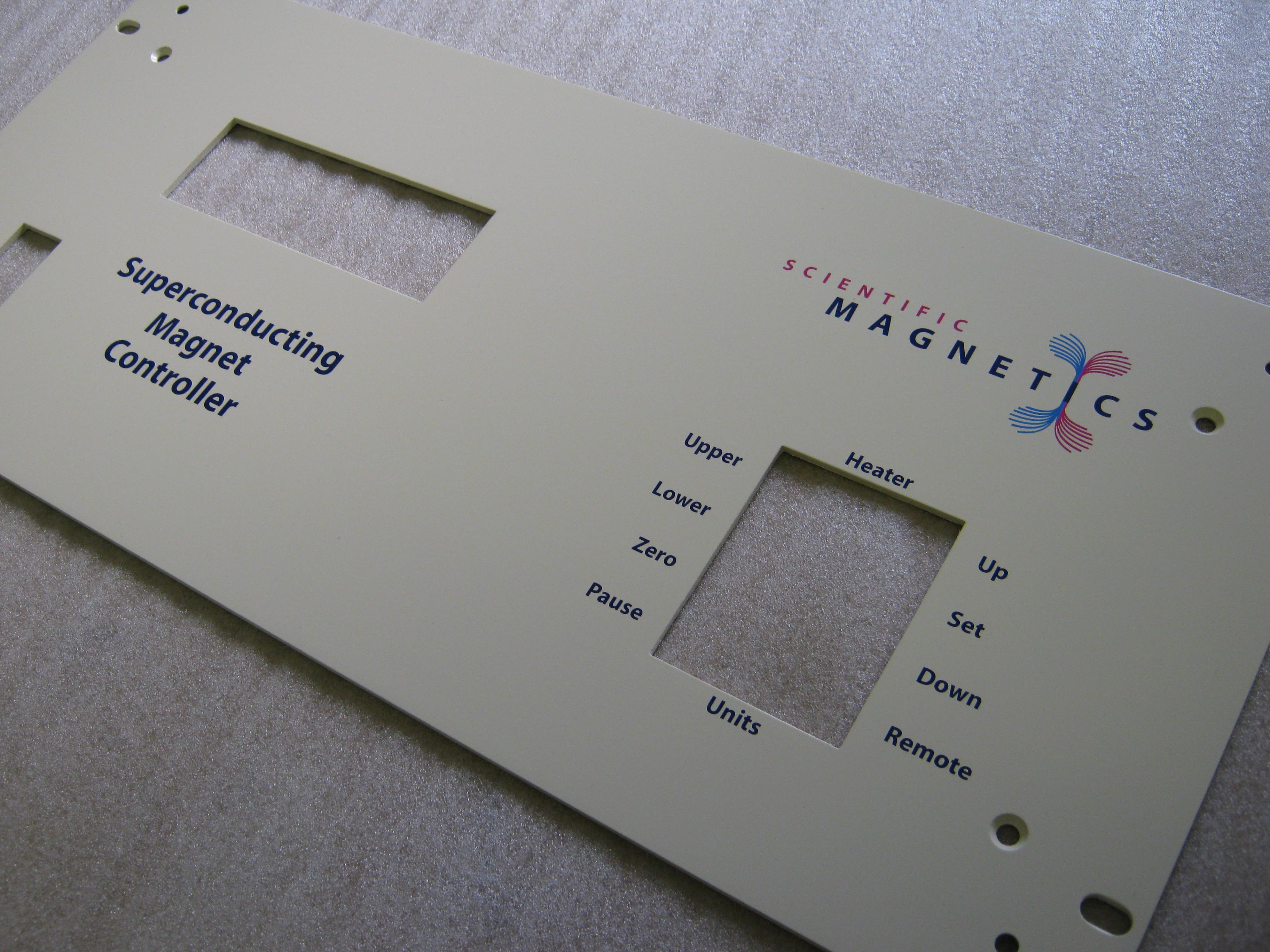 Screenprinted control panel 2