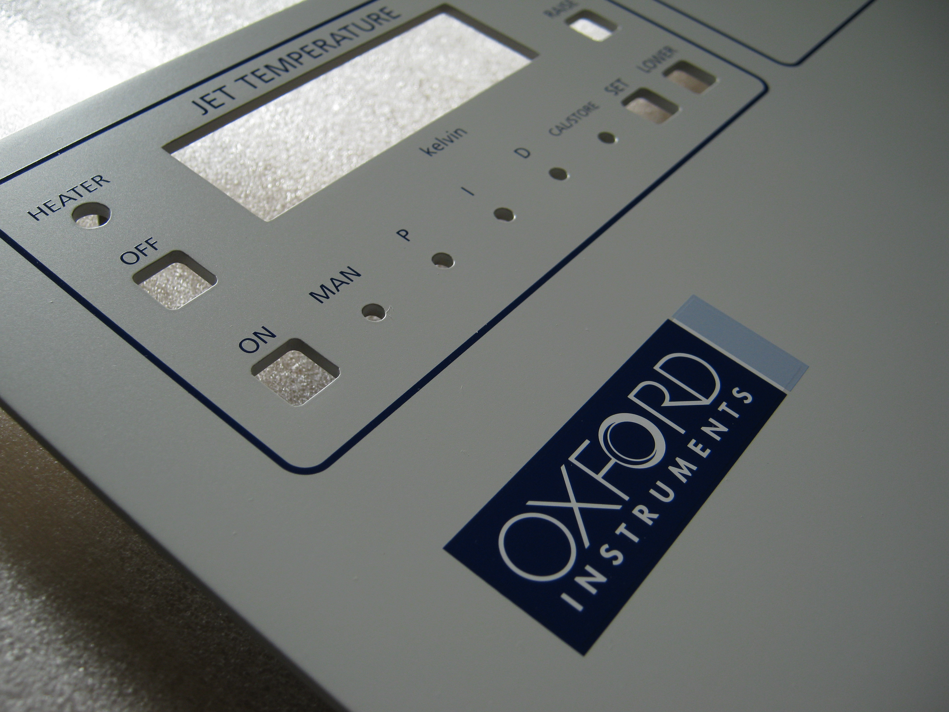 Screenprinted control panel