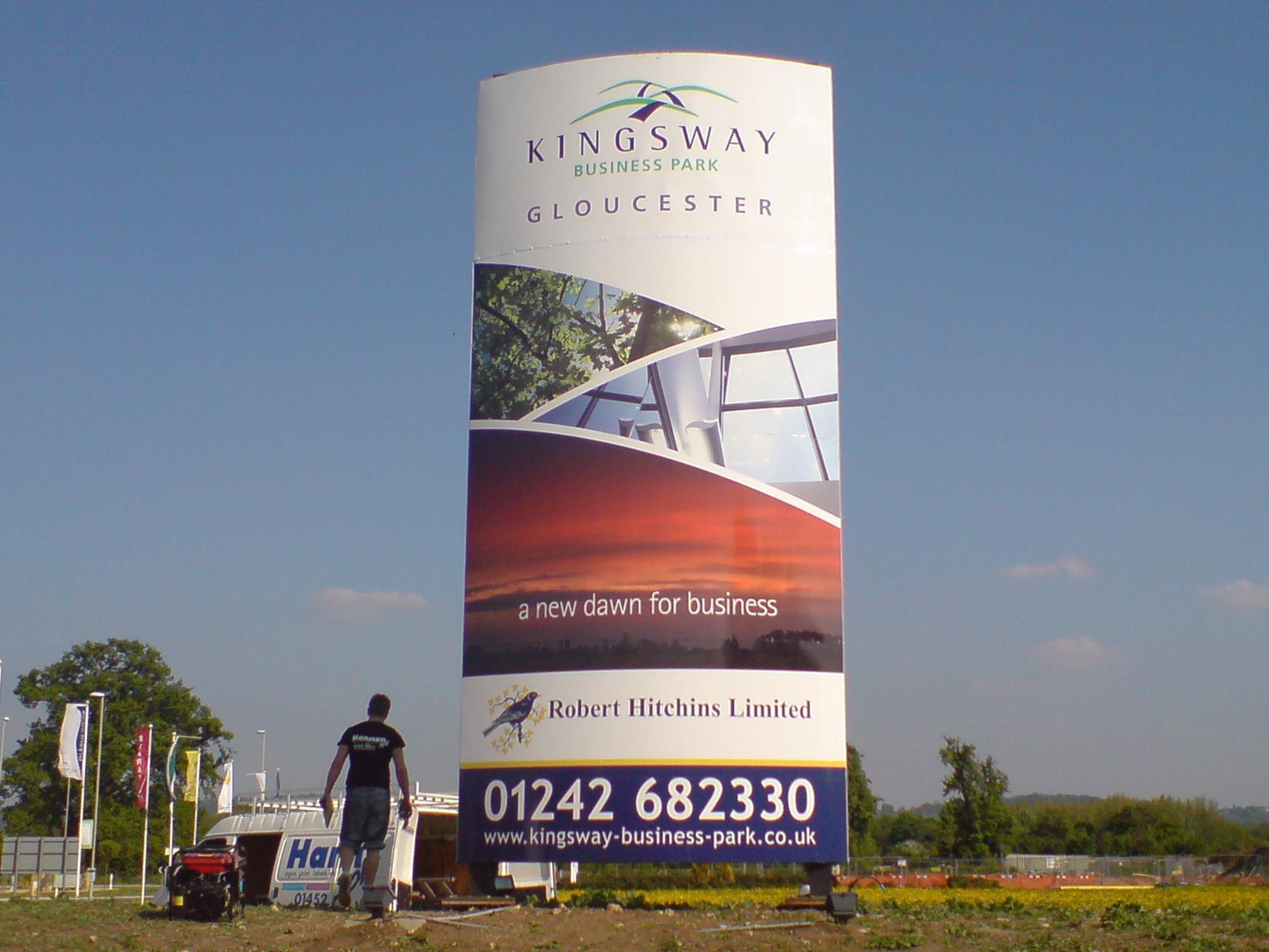 Large Monoform sign design & fit