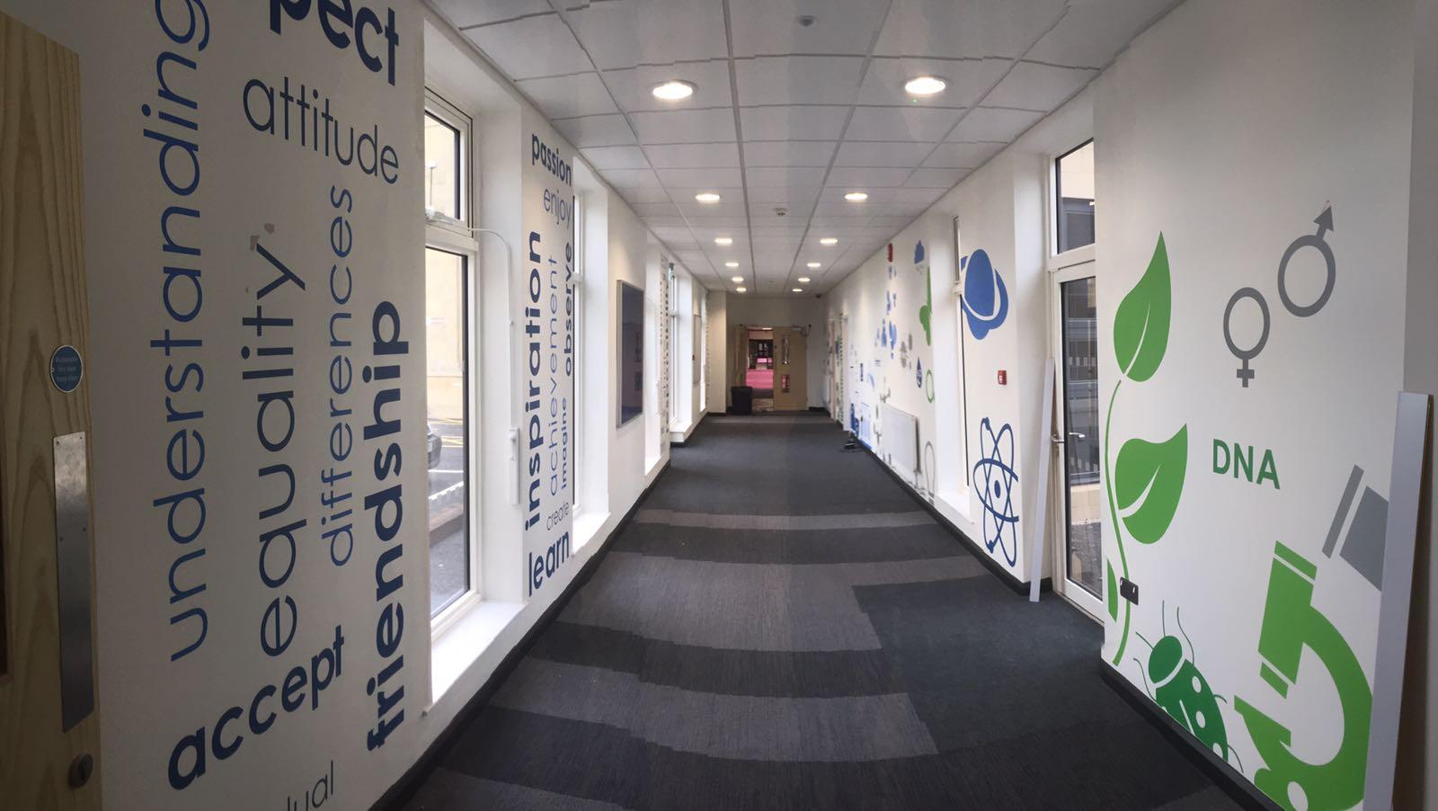 School interior graphics
