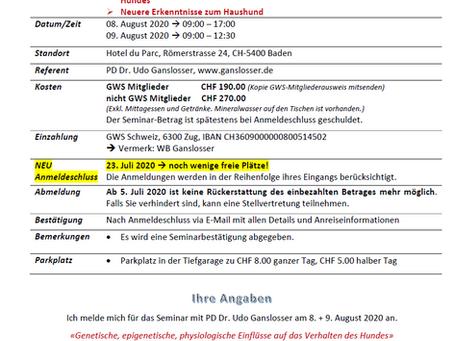 """""""Hunde-Forschung Aktuell"""" - 08.+09.08.2020"""