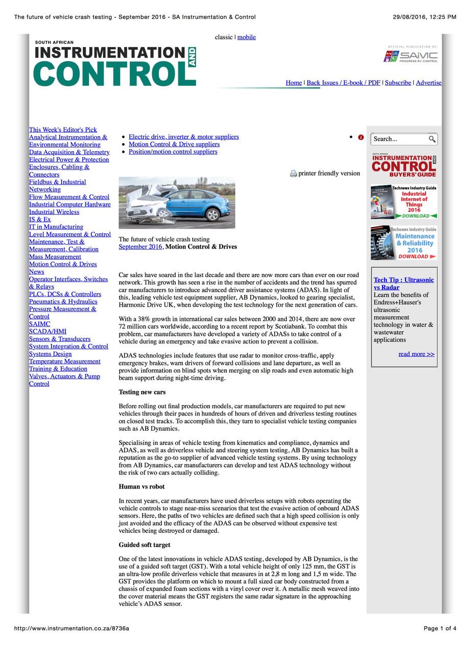 The future of vehicle crash testing