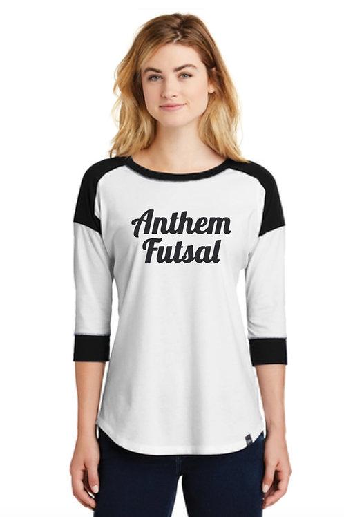 New Era® Ladies Heritage Blend 3/4-Sleeve Baseball Raglan Tee