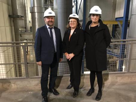 Visite du centre d'incinération d'Isséane à Issy-les-Moulineaux