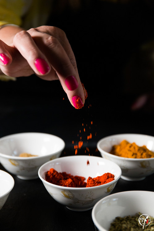 Nedhi with her Spices