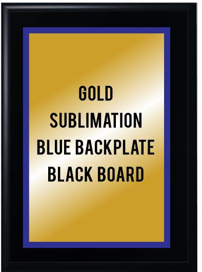 4 x 6 Plaque Sublimated Double Back Plate (Wood or Black)