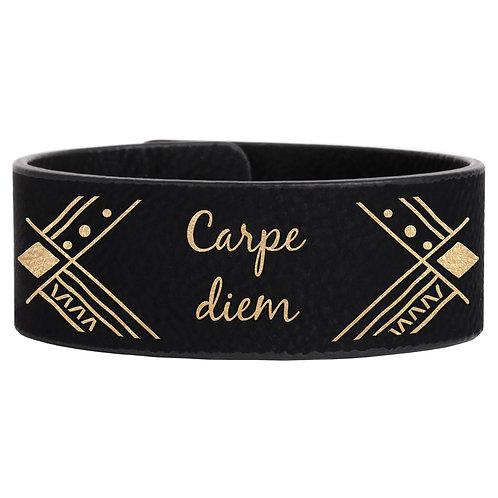 signature leather cuff bracelet
