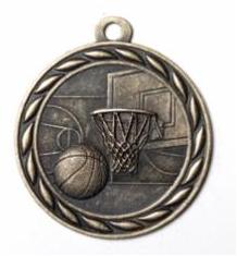 """Standard 2"""" Gold Basketball Medals"""