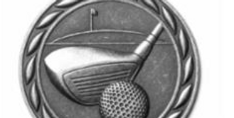 "Standard 2"" Golf Silver Medals"