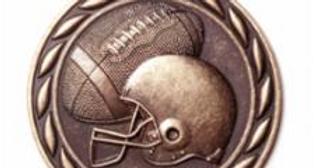 """Standard 2"""" Bronze Football Medals"""