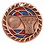 "Thumbnail: Red/Blue Glitter 2.5"" Bronze Basketball Medals"