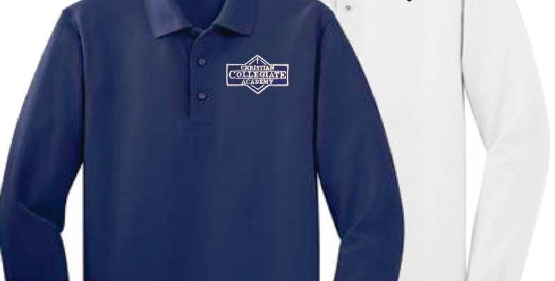 CCA Adult Long Sleeve Polo