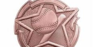 """Star 2"""" Bronze Baseball Medals"""