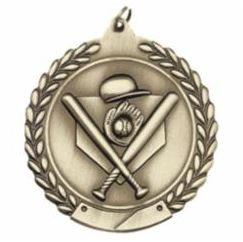 "Standard Die Cast 2 3/4"" Gold Baseball Medals"