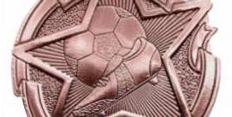 "Star 2"" Bronze Soccer Medals"