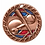 "Thumbnail: Red/Blue Glitter 2.5"" Bronze Baseball Medals"