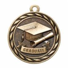 "Standard 2"" Gold Graduate Medal"